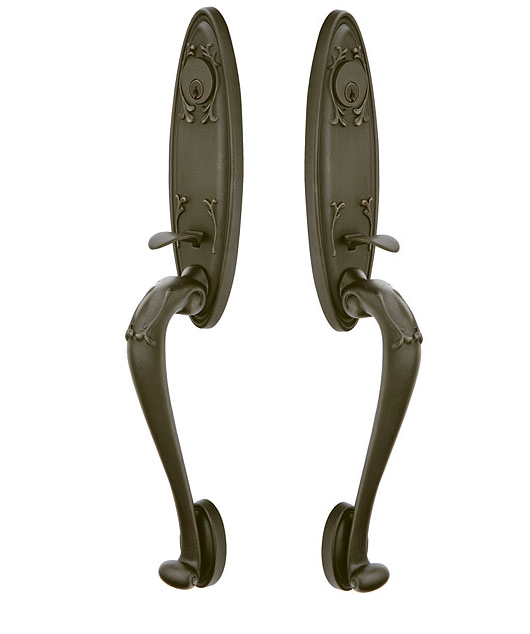 Emtek 474111 Tuscany Monolithic Grip by Grip Handleset Medium Bronze Patina (MB)