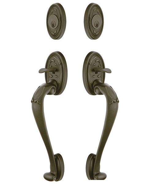 Emtek 474444 Tuscany Sectional Grip by Grip Handleset Medium Bronze Patina (MB)