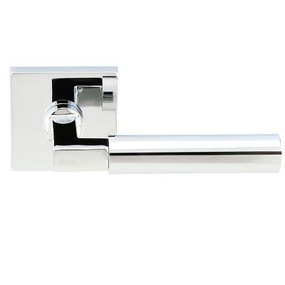 Emtek Brass Hercules Door Lever Set with Square Rose Polished Chrome (US26)