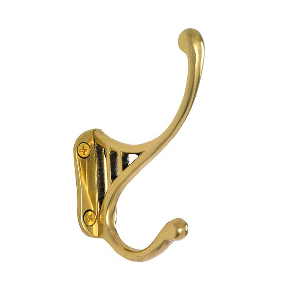 Nostalgic Warehouse CHKCLS Classic Coat Hook Polished Brass (PB)