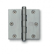 "Omnia Solid Brass 3 1/2"" x  3 1/2"" Square Corner Hinge (single)"