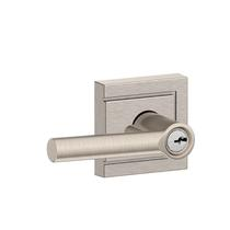 Schlage F51A-BRW-ULD Broadway Keyed Entry Door Lever Set with Upland Rose