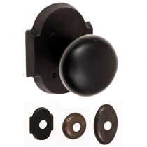 Fusion Sandcast Bronze Half-Round Door Knob from the River Rock Collection