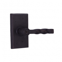 Weslock Molten Bronze Collection Monoghan Keyed Entry Lever Set