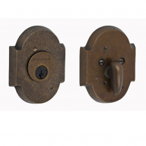 Fusion Sandcast Bronze Small Scalloped Deadbolt