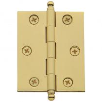 "Baldwin 2 1/2"" x 2"" Cabinet Brass Hinges w/Ball Tips (Pair)"