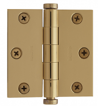 "Baldwin 1030 Solid Brass 3"" x 3"" Square Corner Hinge (single)"