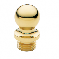 Baldwin 1080 Solid Brass Ball Finial For Radius Corner Hinges (Set of 2)