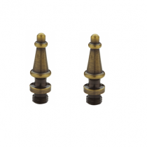 Baldwin 1093 Solid Brass Steeple Finial For Square Corner Hinges (set of 2)