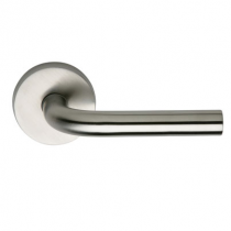 Omnia 11 Stainless Steel Door Lever Latchset