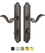 Emtek Door Configuration #1 Brass CONCORD Style Multi-Point Trim for Patio Doors