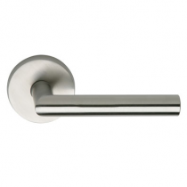 Omnia 12 Stainless Steel Door Lever Latchset