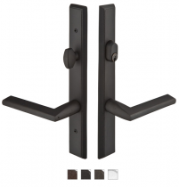 Emtek Door Configuration #2 SandCast Bronze RECTANGULAR Style Multi-Point Trim for Patio Doors