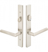 Emtek Door Configuration #2 Modern STAINLESS STEEL Style Multi-Point Trim for Patio Doors