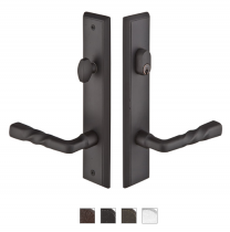 Emtek Door Configuration #3 SandCast Bronze RECTANGULAR Style Multi-Point Trim for Patio Doors