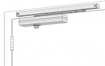 LCN 1461T Surface Mount Track Door Closer