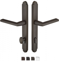 Emtek Door Configuration #5 SandCast Bronze ARCHED Euro Style Multi-Point Trim for Patio Doors