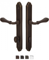 Emtek Door Configuration #5 Lost Wax Cast Bronze TUSCANY Euro Style Multi-Point Trim for Patio Doors