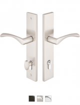 Emtek Door Configuration #5 Brass MODERN Euro Style Multi-Point Trim for Patio Doors