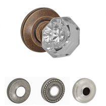 Fusion Elite Victorian Clear Glass Door Knob