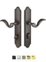 Emtek Door Configuration #6 Brass CONCORD Style Multi-Point Trim for Patio Doors
