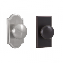 Weslock Elegance Collection Impresa Passage Door Knob Set with choice of decorative rose