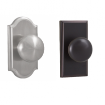 Weslock Elegance Collection Impresa Dummy Door Knob with choice of decorative rose