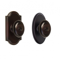 Weslock Elegance Collection Julienne Keyed Entry Door Knob Set with choice of decorative rose