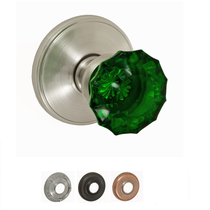 Fusion Decorative Collection Scalloped Green Door Knob