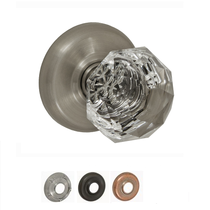 Fusion Decorative Collection Crystal Clear Door Knob
