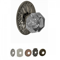Fusion Bella Villa Collection Victorian Clear Door Knob