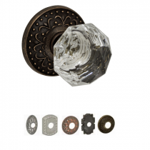 Fusion Bella Villa Collection Crystal Clear Door Knob
