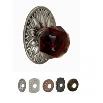 Fusion Bella Villa Collection Amber Crystal Glass Door Knob