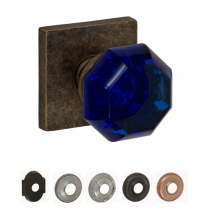Fusion Decorative Glass & Crystal Collection Victorian Cobalt Glass Door Knob