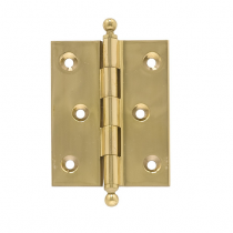 "Brass Accents 3"" x 2"" Square Corner Ball Tip Brass Hinge"