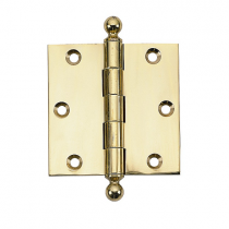 "Brass Accents 3 1/2"" x 3 1/2"" Square Corner Ball Tip Brass Hinge"