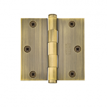 "Emtek 3-1/2"" x 3-1/2"" Solid Brass Square Corner Residential Duty Hinges (Pair)"