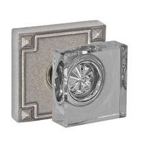 Fusion Square Glass Door Knob from the Sonoma Collection