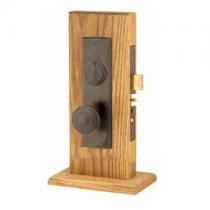 Emtek Rectangular Monolithic Mortise Entrance Lockset