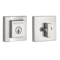 Baldwin Prestige 380SDB Square Spyglass Single Cylinder Deadbolt