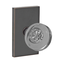Fusion Contemporary Collection Glass Disk Door Knob