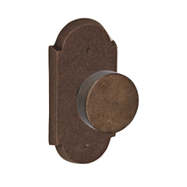 Fusion Sandcast Bronze Disk Door Knob from the River Rock Collection
