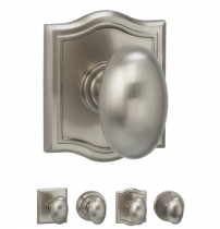 Omnia 434 Egg Door Knob Set from the Prodigy Collection