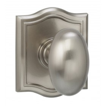 Omnia 434AR Egg Door Knob Set with Arched Rose from the Prodigy Collection