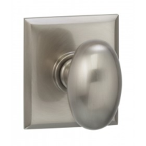 Omnia 434RT Egg Door Knob Set with Rectangular Rose from the Prodigy Collection