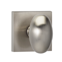 Omnia 434SQ Egg Door Knob Set with Square Rose from the Prodigy Collection
