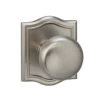 Omnia 458AR Colonial Door Knob Set with Arched Rose from the Prodigy Collection