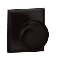 Omnia 458RT Colonial Door Knob Set with Rectangular Rose from the Prodigy Collection