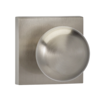 Omnia 458SQ Colonial Door Knob Set with Square Rose from the Prodigy Collection