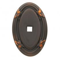 Baldwin Oval Edinburgh Cabinet Knob Back Plate (4619)